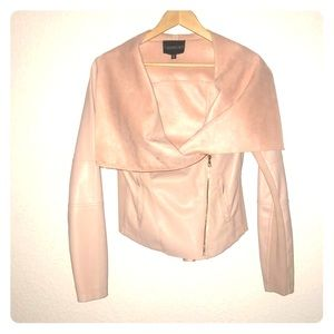 Express Faux Leather and Suede Jacket
